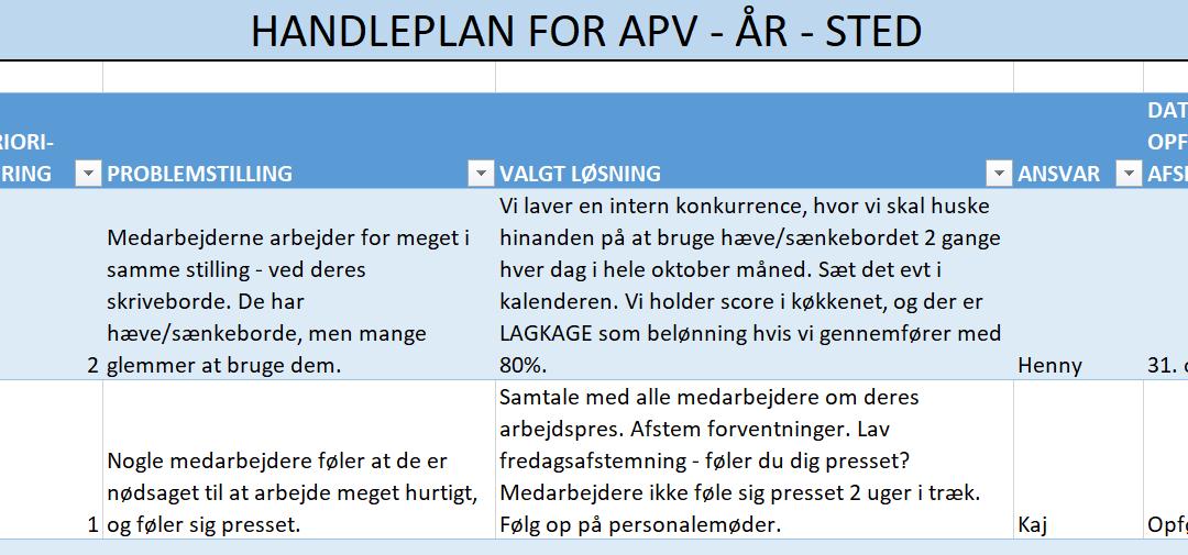 APV handleplan